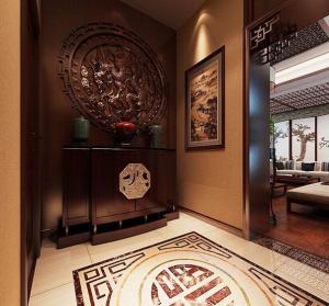 新中式玄关进门