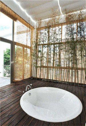美式风格阳台效果图室内浴室