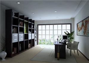 现代新中式书房装修效果图