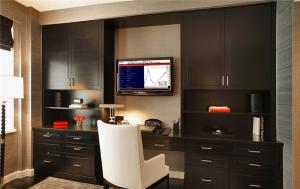 电视书柜一体效果图背景墙