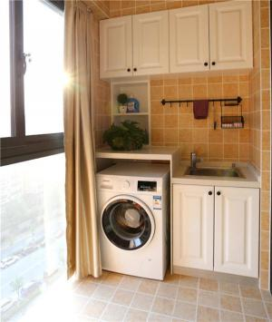 阳台洗衣池效果图实景图