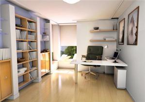 白色简易折叠书柜