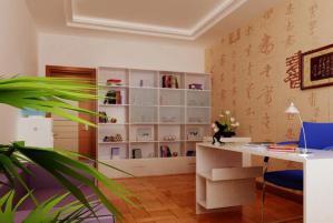 小户型客厅书柜墙
