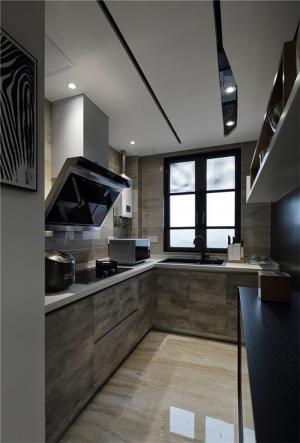 U型厨房整体橱柜图