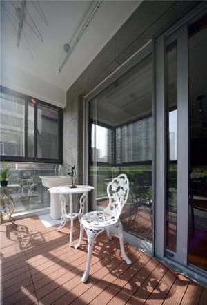 客厅阳台装修效果图防腐地板