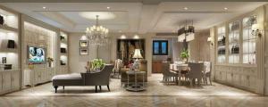 现代简约四居室客厅酒柜装修