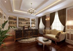 美式书房装修效果图定制家具