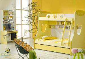 小别墅卧室高低床装修效果图