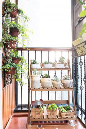 小阳台装修效果图种植植物