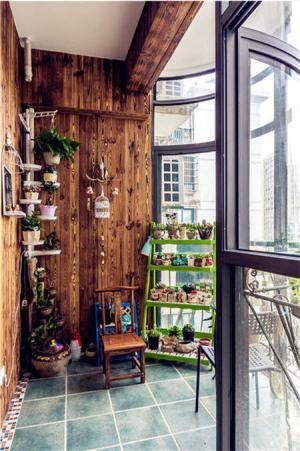 阳台改造效果图花艺设计