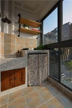 阳台洗衣池效果图素材