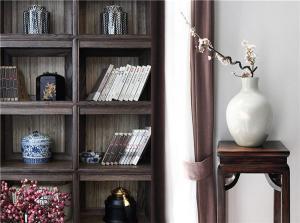 中式书柜装饰图