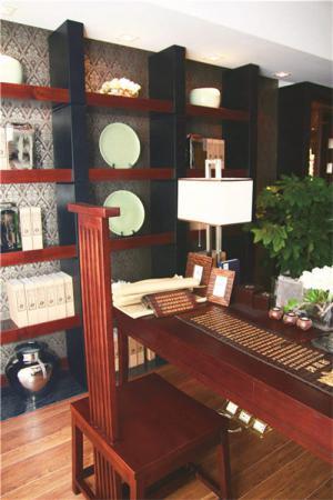 中式书柜素材