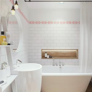 小户型简约装修浴缸摆放
