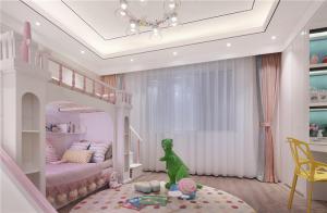 儿童卧室二层床设计