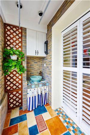 洗衣机放阳台效果图洗衣机装饰效果