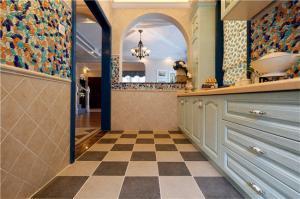 瓷砖厨柜实景图
