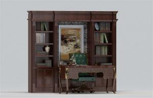 欧式书柜3D模型