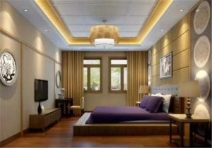 创意卧室地台床装修效果图