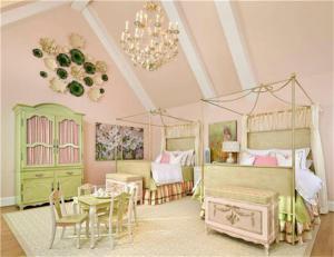 国外两个孩子儿童房设计素材