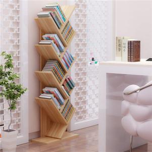 简易书柜落地创意树形书架