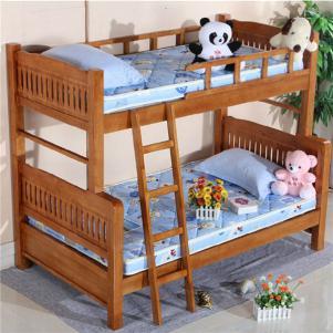 实木字母儿童家具上下床