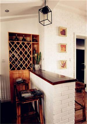 美式酒柜吧台一体化定制