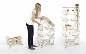 创意十足的折叠书柜