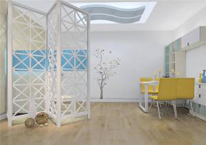 公寓客厅屏风柜
