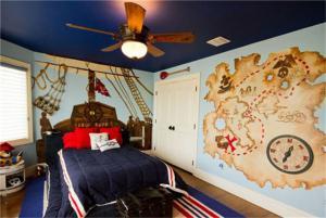 美式儿童房地图壁纸