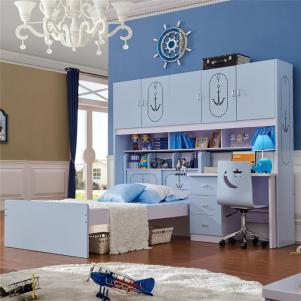 男孩儿童房小户型上下床装修套房