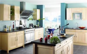 整体开放式厨房橱柜效果图大全