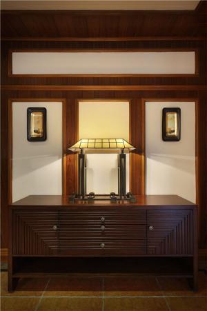 新中式房屋装修玄关