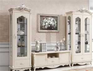 客厅美式酒柜