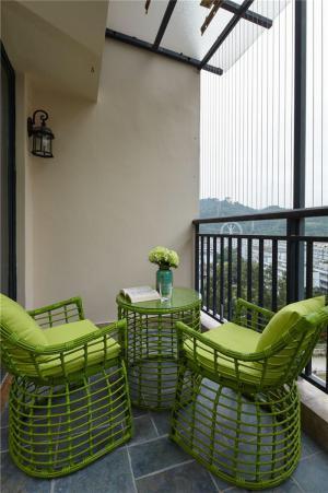 美式风格阳台效果图创意休闲椅购买