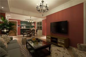 温馨设计小户型电视背景墙