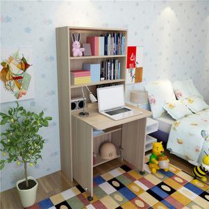 简约现代折叠书柜书桌