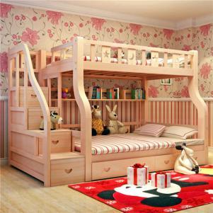 实木儿童上下床定制