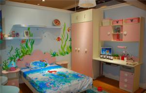 儿童房墙纸效果图样板间