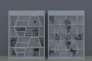 简约创意书柜效果图大全2015款