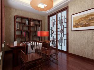 中式书房装修效果图红木古
