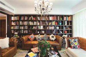 多功能书房装修效果图储物
