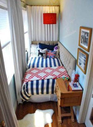 超小户型的小阳台改卧室效果图