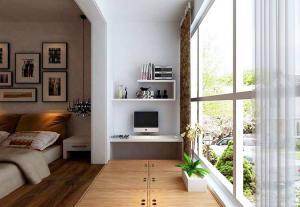 阳台书柜踏踏米收纳造型
