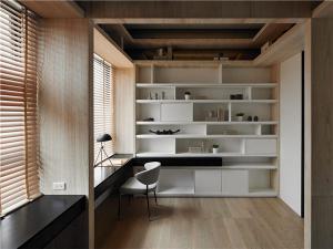 阳台小书房书柜