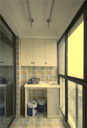 瓷砖阳台洗衣池效果图实景图