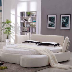 子床符合面料圆形床卧室效果图