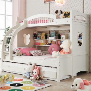 小户型上下床装修韩式女孩儿童房