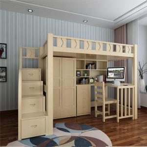 家居上下床楼梯床带衣柜