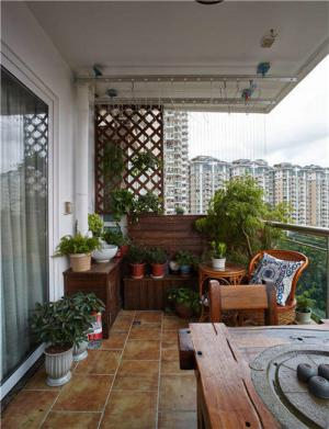 卧室别墅阳台外观效果图